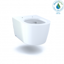 TOTO CT447CFG#01 RP Wall-Hung Contemporary D-Shape Dual Flush 1.28 and 0.9 GPF Toilet with CEFIONTECT, Cotton White