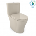TOTO MS446124CUMG#03 Aquia IV 1G WASHLET+ Two-Piece Elongated Dual Flush 1.0 and 0.8 GPF Toilet with CEFIONTECT, Bone